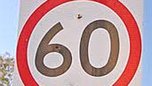 60 speed sign